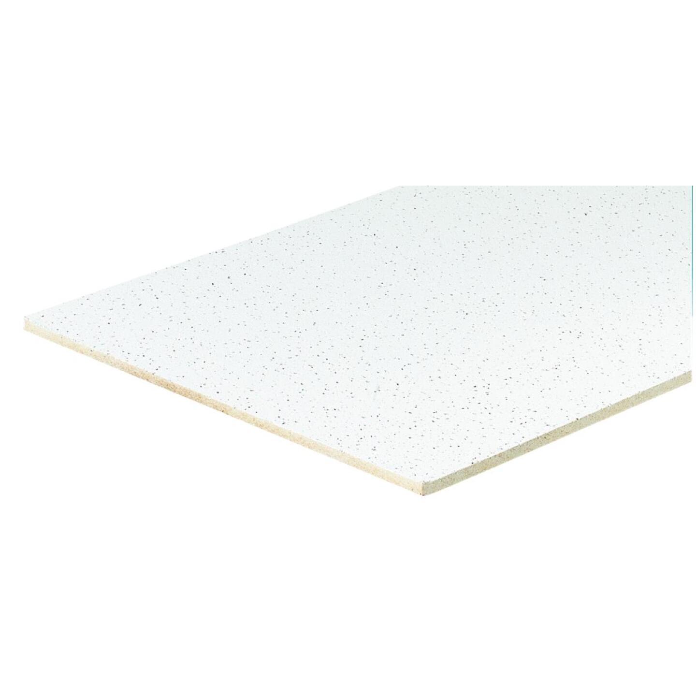Radar Fissured 2 Ft. x 4 Ft. White Mineral Fiber Square Edge Suspended Ceiling Tile (8-Count) Image 3