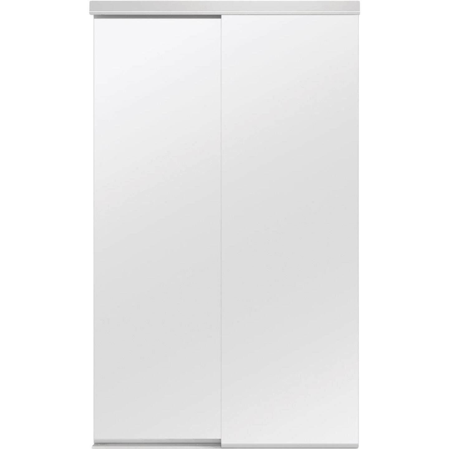 Colonial Elegance Classic 48 In. W x 80-1/2 In. H White Frameless Mirrored Sliding Bypass Door Image 1