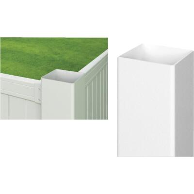 Outdoor Essentials 4 In. x 4 In. x 72 In. White Blank Vinyl Post