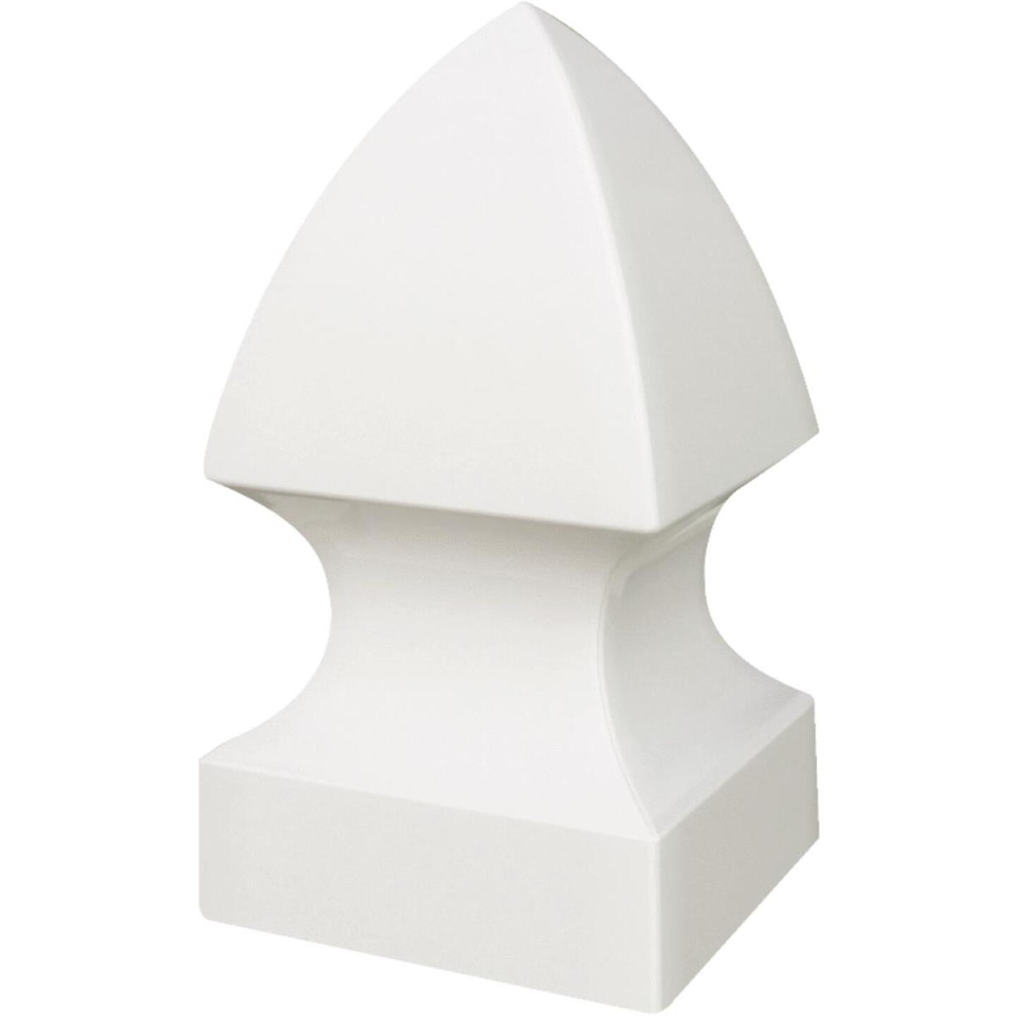Outdoor Essentials 4 In. x 4 In. White Gothic Vinyl Post Cap Image 2