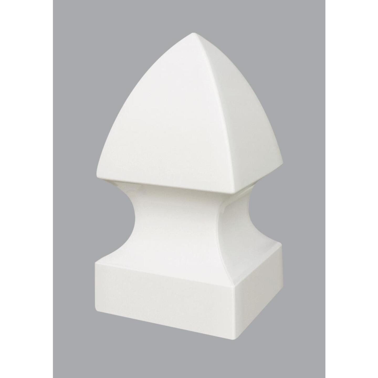 Outdoor Essentials 4 In. x 4 In. White Gothic Vinyl Post Cap Image 1