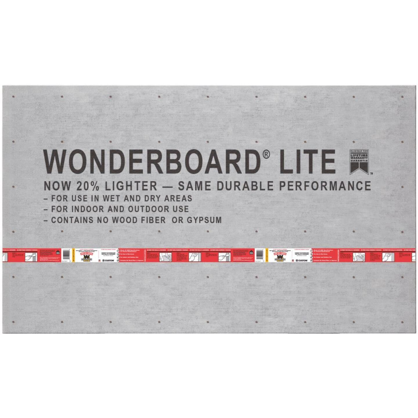 Wonderboard 7/16 In. x 36 In. x 60 In. Backerboard Image 1