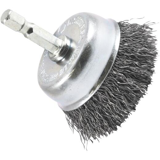 Forney 2 In. 1/4 In. Hex Coarse Drill-Mounted Wire Brush