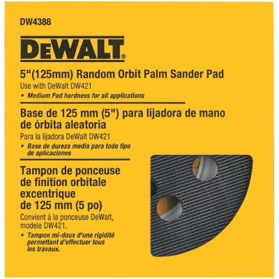 DeWalt 8-Hole Hook and Loop 5 In. Sanding Disc Backing Pad