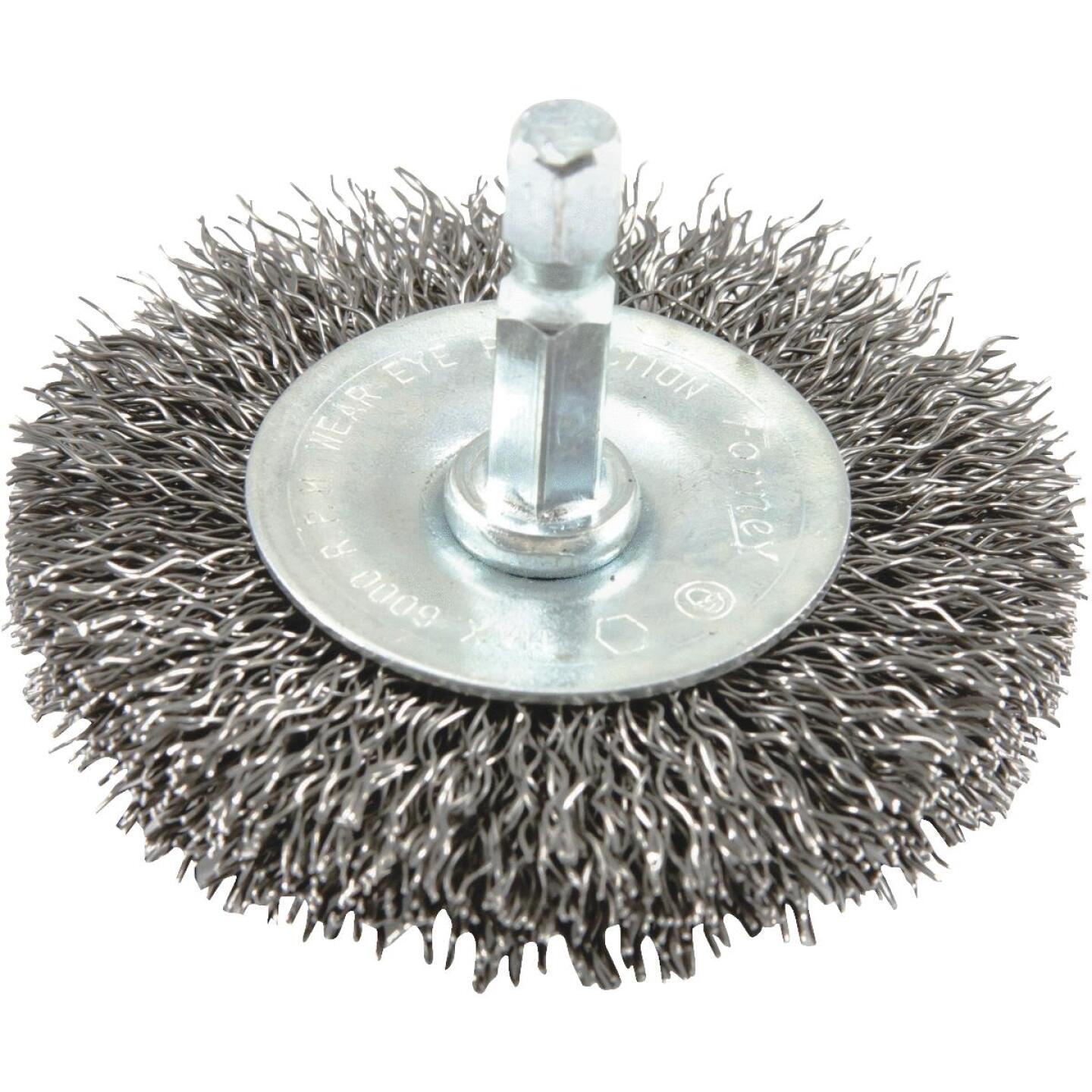 Forney 2-1/2 In. Hex Crimped, Coarse Drill-Mounted Wire Wheel Image 1