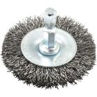 Forney 2 In. Hex Crimped, Coarse Drill-Mounted Wire Wheel Image 1