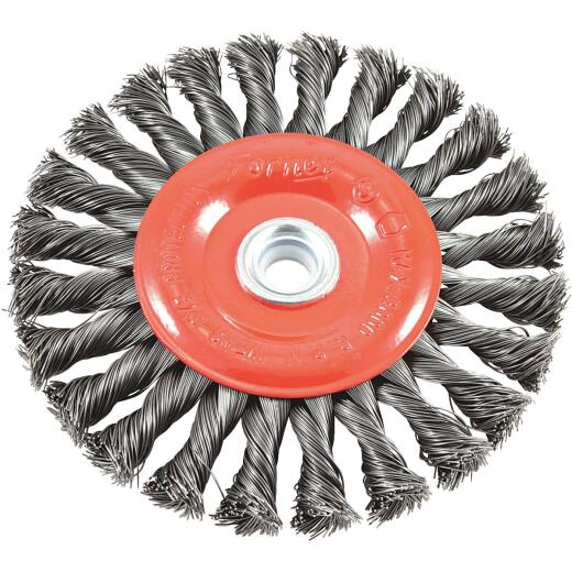 Forney 6 In. Twisted/Knotted .012 In. Angle Grinder Wire Wheel