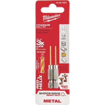 Milwaukee Shockwave Impact Duty 1/16 In. Titanium Hex Shank Drill Bit