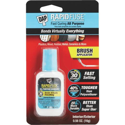 DAP RapidFuse 0.56 Oz. Clear Multi-Purpose Adhesive Brush Applicator