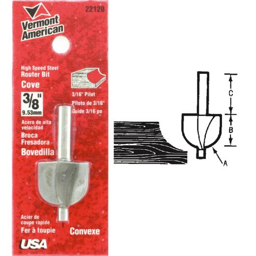Vermont American Carbide Tip 1-1/4 In. Cove Bit