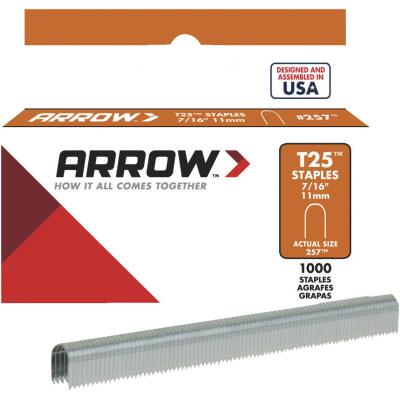 Arrow T25 Round Crown Cable Staple, 7/16 In. (1100-Pack)