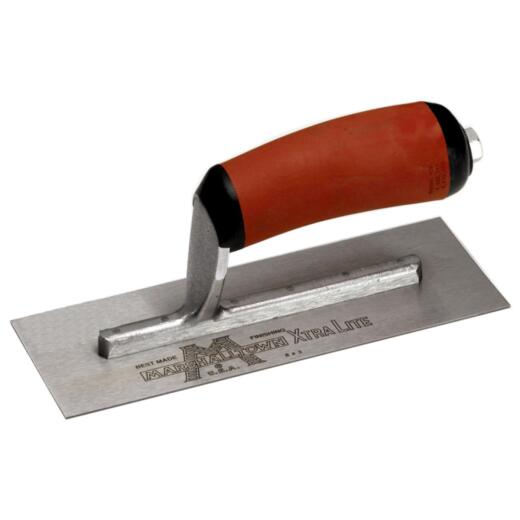 Marshalltown 4-1/2 In. x 11 In. High Carbon Steel Finishing Trowel with Curved DuraSoft Handle