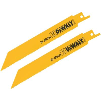 DeWalt 6 In. 14 TPI Thick Metal Reciprocating Saw Blade (2-Pack)