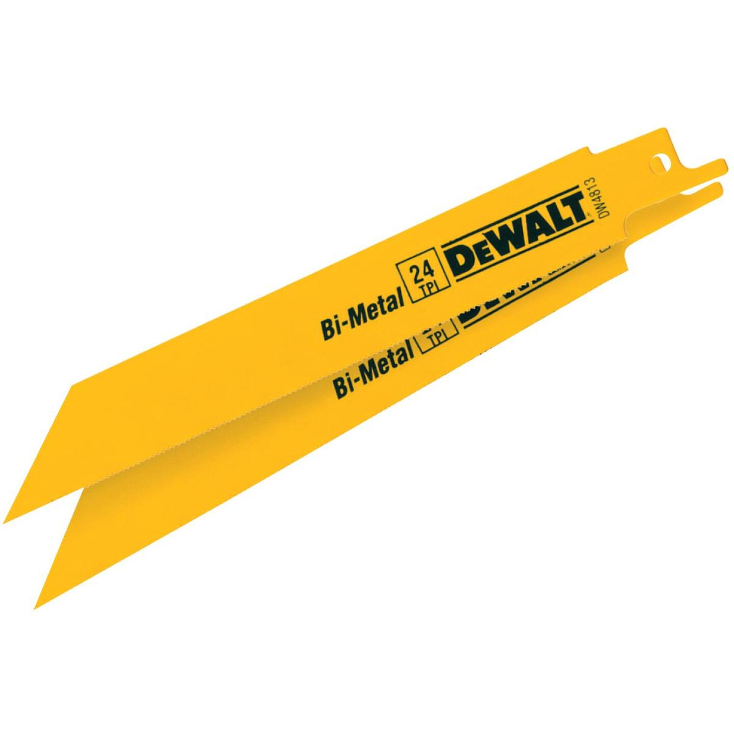 DeWalt 6 In. 24 TPI Thin Metal Reciprocating Saw Blade (2-Pack) Image 1