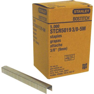 Bostitch Powercrown Hammer Tacker Staple, 3/8 In. (5000-Pack)