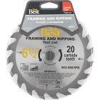 Do it Best 6-1/2 In. 20-Tooth Framing & Ripping Circular Saw Blade Image 1