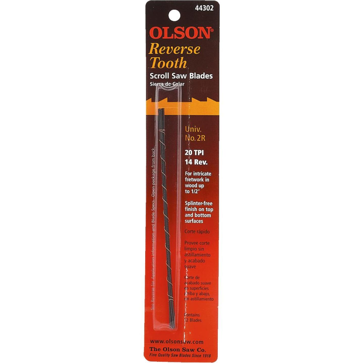 Olson 20TPI Reverse Tooth Plain End Scroll Saw Blade (12 Count) Image 2