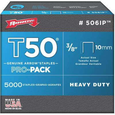 Arrow T50 Pro-Pack Heavy-Duty Staple, 3/8 In. (5000-Pack)