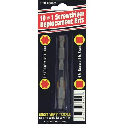 Best Way Tools TORX 10-in-1 Replacement Double End Screwdriver Bit