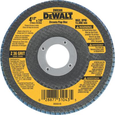DeWalt 4-1/2 In. 36-Grit Type 29 High Performance Angle Grinder Flap Disc