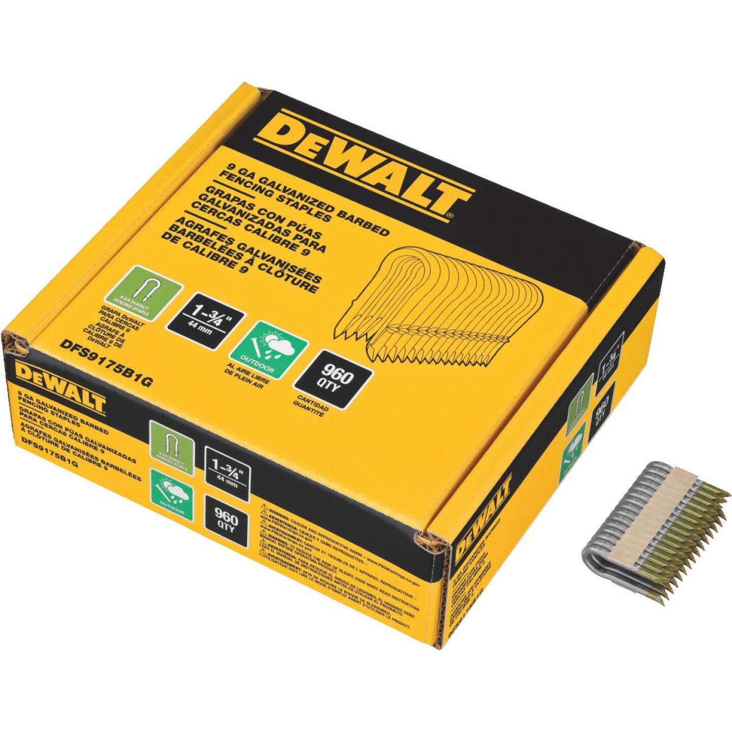 DeWalt 1-3/4 In. 9 Ga. Galvanized Barbed Collated Fence Staple (960-Ct.) Image 2