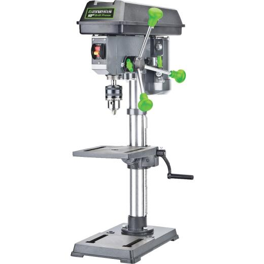 Genesis 10 In. 5-Speed Bench Top Drill Press with Work Light