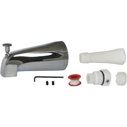 Do it Best Universal Fit Chrome Bathtub Spout with Diverter