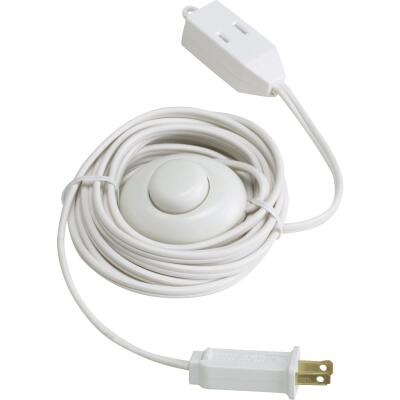 Do it 15 Ft. 18/2 White Extension Cord with Foot Switch