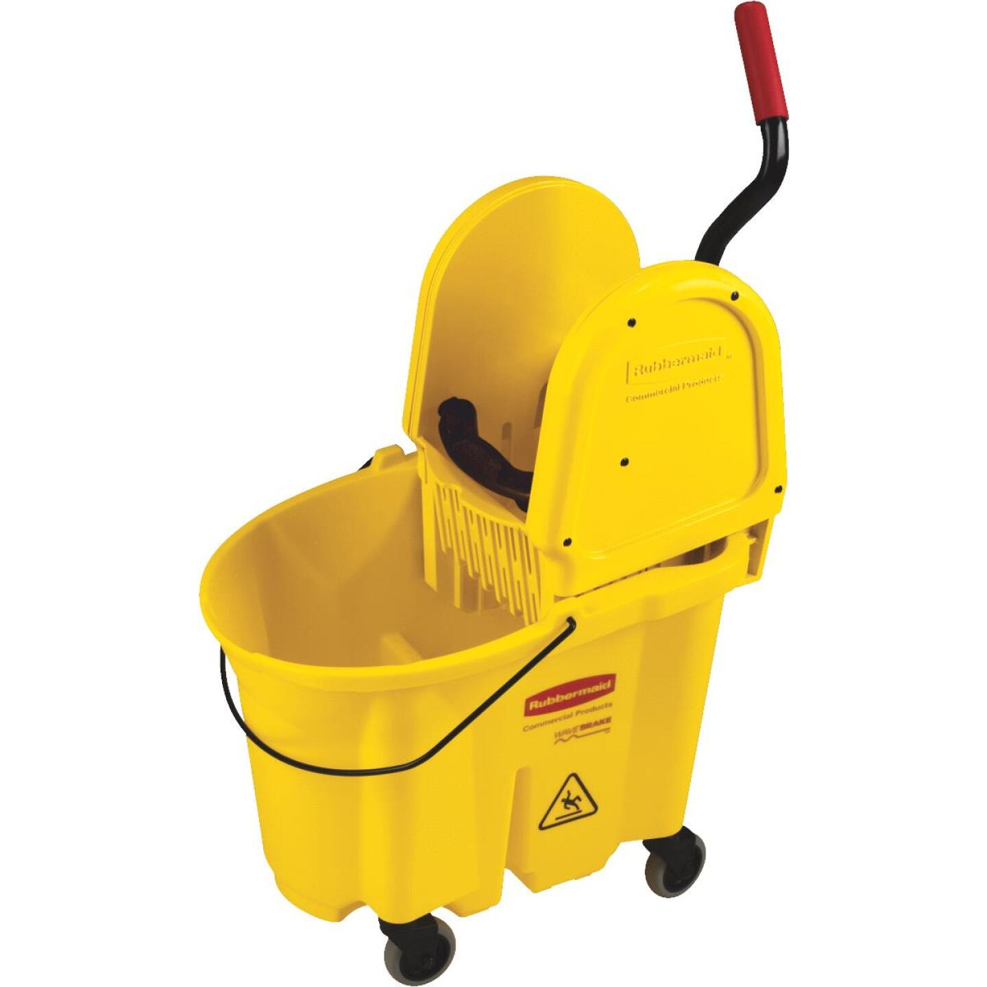 Rubbermaid Commercial WaveBrake 35 Qt. Down Press Combo Mop Bucket Image 1