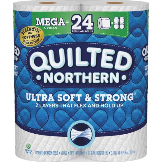 Quilted Northern Ultra Soft & Strong Toilet Paper (6 Mega Rolls)