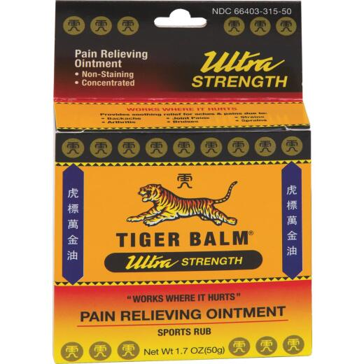 Tiger Balm 1.7 Oz. Ultra Strength Pain Relieving Ointment