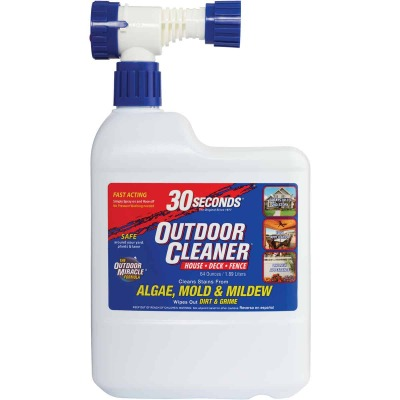 30 seconds Outdoor Cleaner 64 Oz. Ready To Spray Hose End Algae, Mold & Mildew Stain Remover