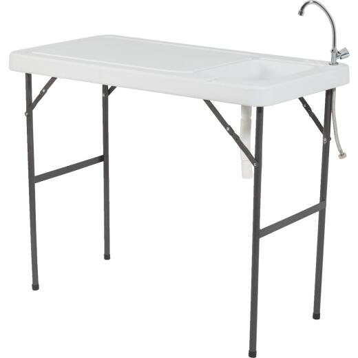 37-1/2 In. H. x 45 In. L. x 23 In. D. Fish & Game Prep Table