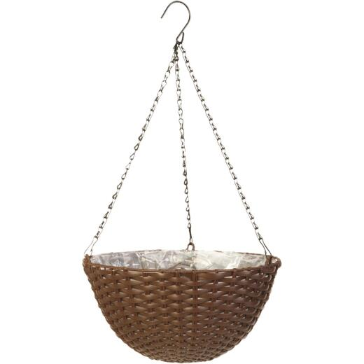 Panacea 14 In. Resin Espresso Brown Hanging Plant Basket