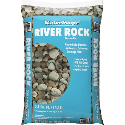 KolorScape 0.5 Cu. Ft. 3/4 In. to 1 In. River Rock, 46 Lb.