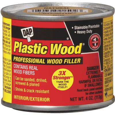 DAP Plastic Wood 4 Oz. Walnut Solvent Professional Wood Filler