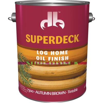 Duckback SUPERDECK VOC Translucent Log Home Oil Finish, Autumn Brown, 1 Gal.