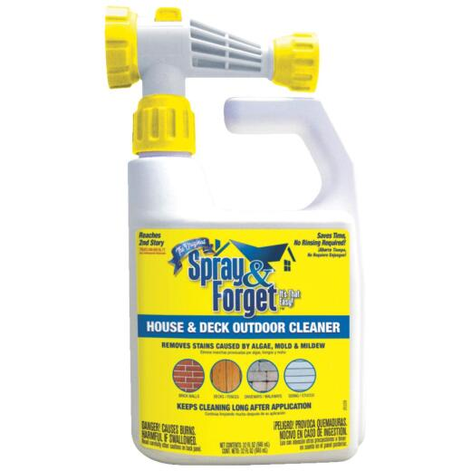 Spray & Forget 32 Oz. Hose End Spray Concentrate No Rinse Roof Cleaner