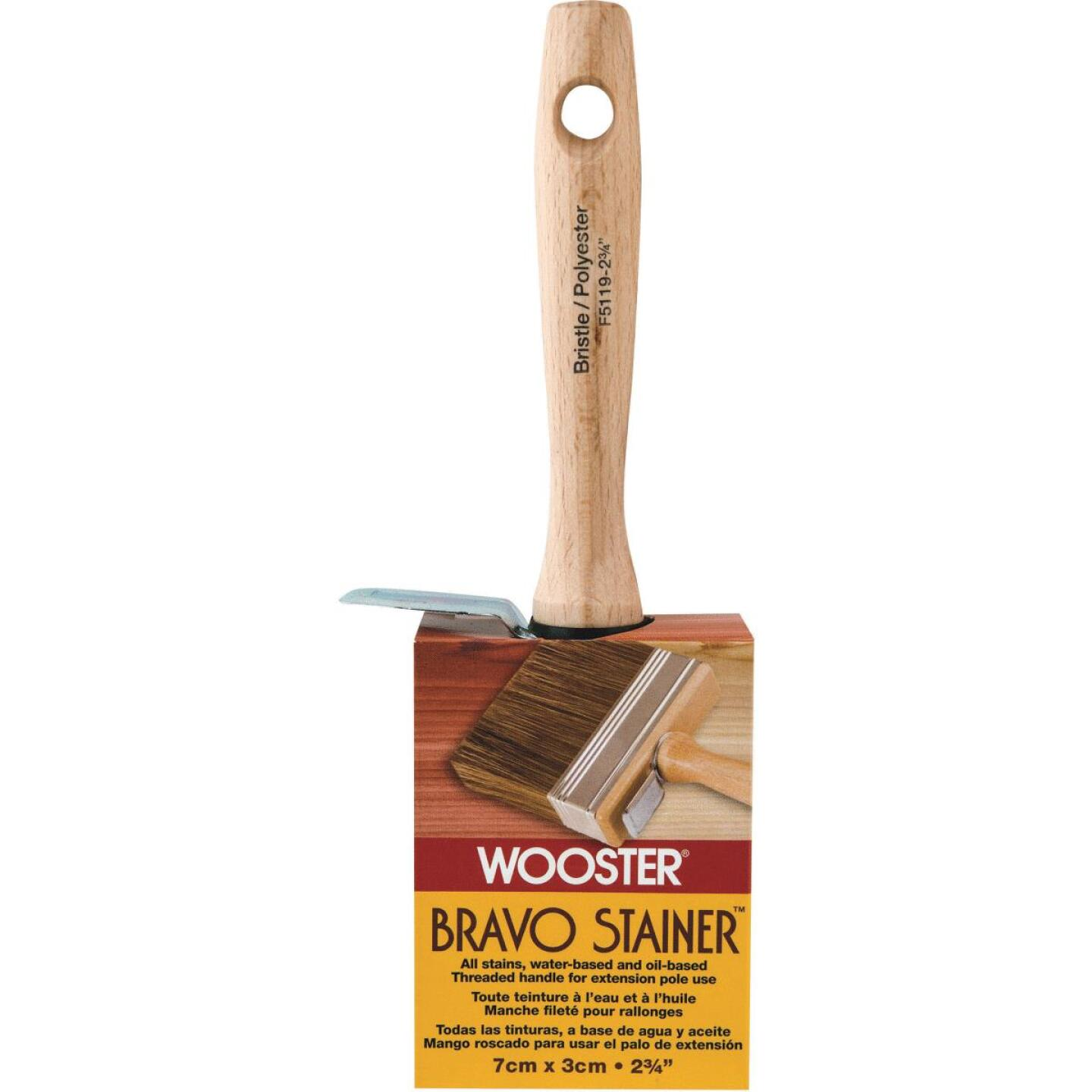 Wooster Bravo Stainer 2-3/4 In. Bristle Brush Image 1
