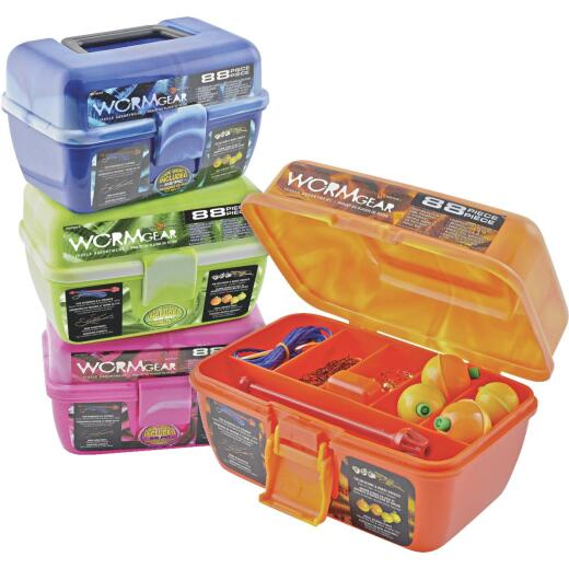 Worm Gear 7-Compartment Tackle Box with Tackle