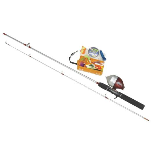 Zebco Ready Tackle 5 Ft. 6 In. Z-Glass Fishing Rod & Spincast Reel with Tackle Kit