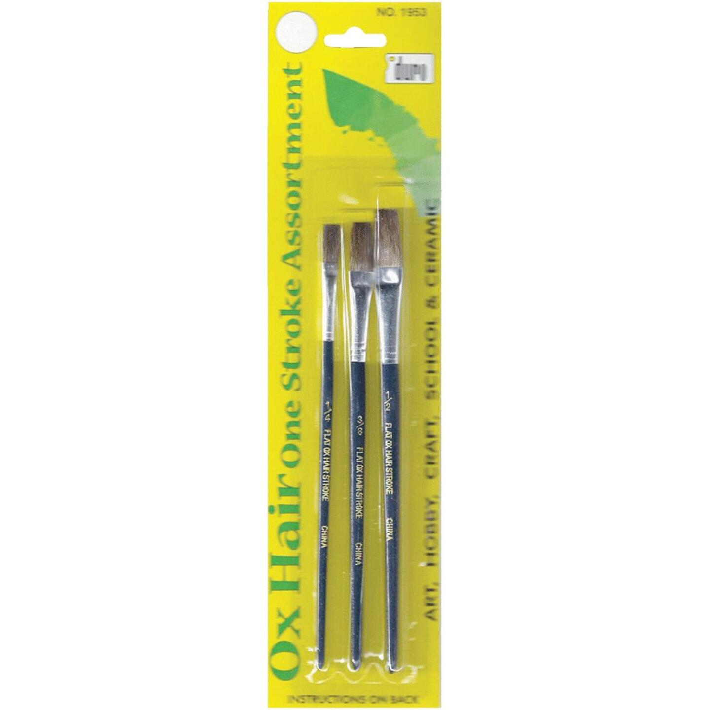 Duro Assorted Sizes Ox Hair Artist Brush Set (3 Pieces) Image 1